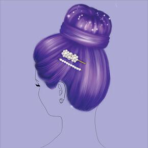 Kit d'accessoires pour chignon tourbillon perles d'imitation,