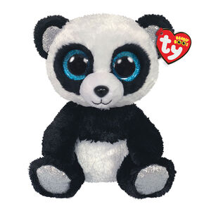 Ty Beanie Boo Medium Bamboo the Panda Soft Toy,