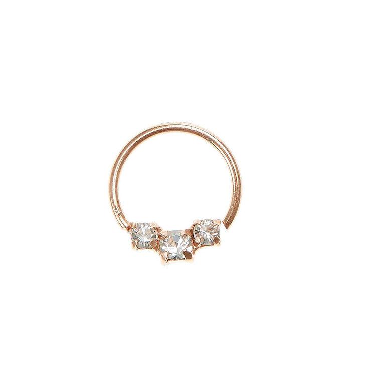 Sterling Silver Rose Gold Cartilage Hoop Ring,