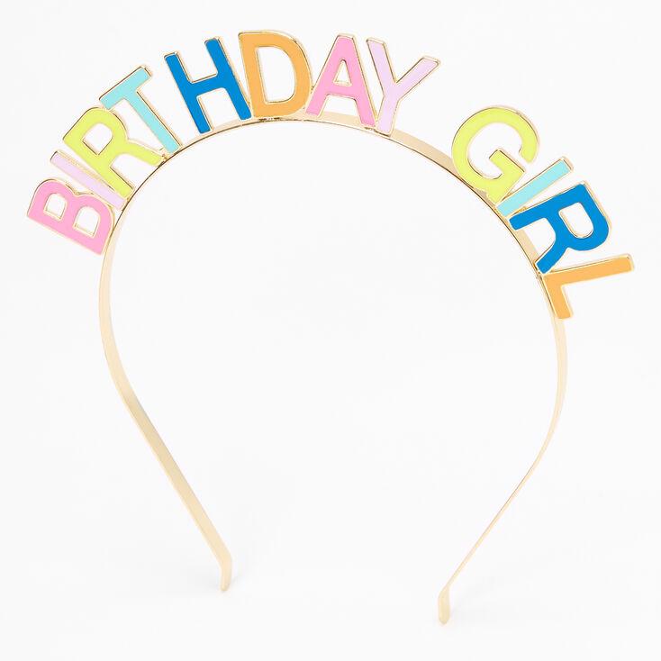 Birthday Girl Rainbow Headband - Gold,