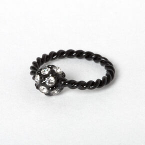 Black 16G Fireball Twisted Helix Hoop Earring,