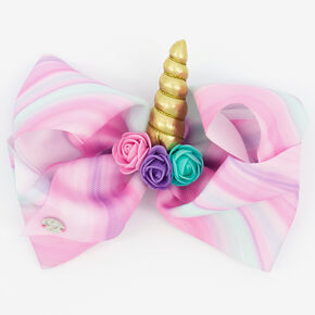 JoJo Siwa™ Large Marble 3D Unicorn Hair Bow – Pink,