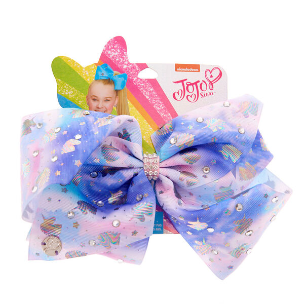 Claire's - jojo siwa™ large signature unicorn daydream hair bow- blue - 1