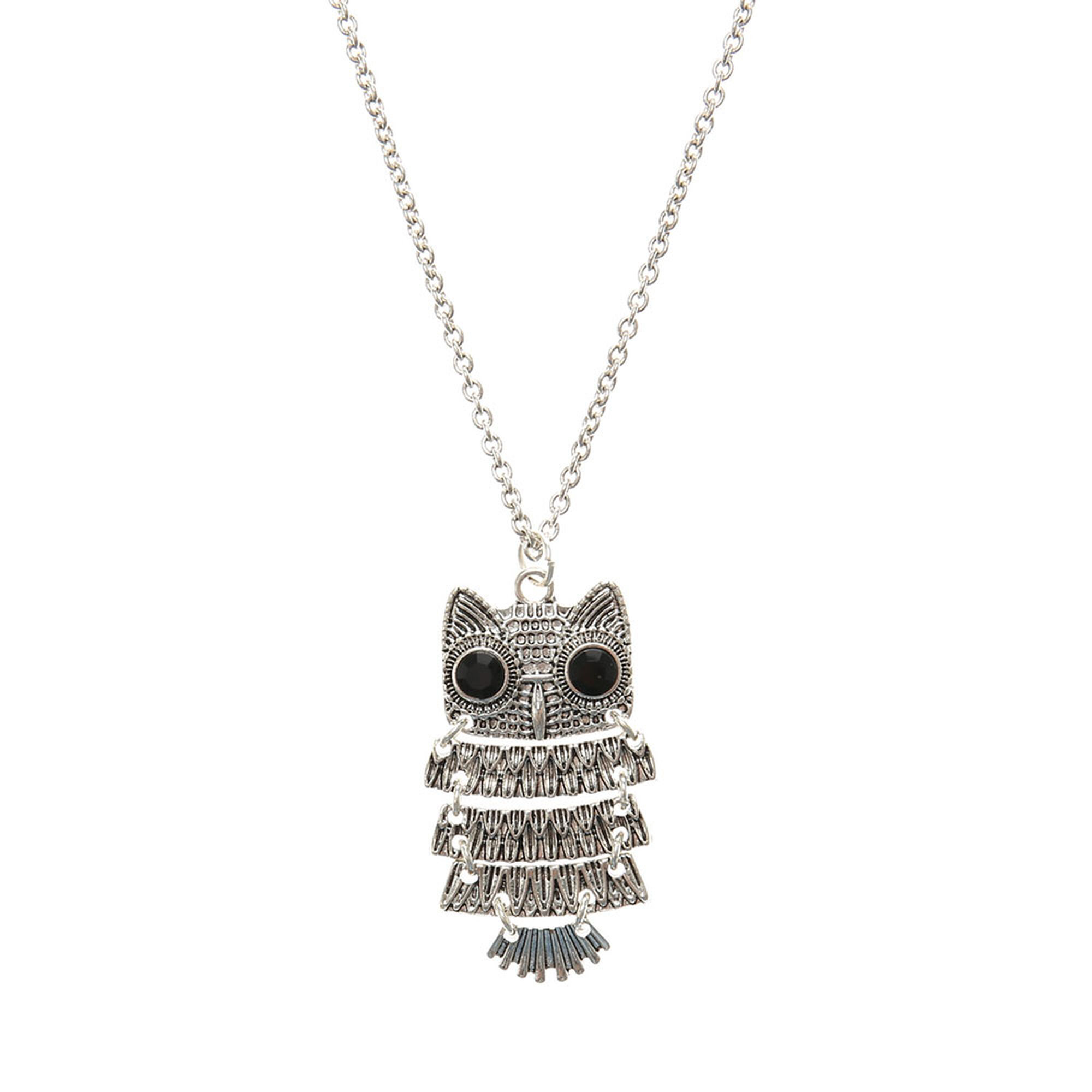 sterling ct jewelry s pendant designer owl diamond tw in w featured necklace silver macy t lyst macys metallic