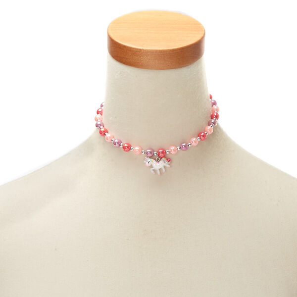 Claire's - club beaded unicorn choker necklace - 1