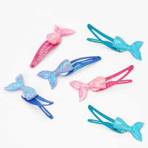 Claire's Club Mermaid Tail Snap Hair Clips - 6 Pack,
