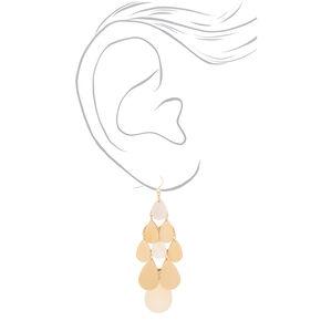 """Gold 3"""" Chandelier Drop Earrings,"""