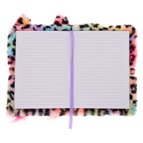 Lulu the Rainbow Leopard Plush Lock Diary - Pink,