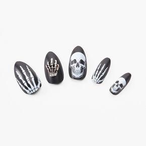 Faux ongles stiletto squelette - Lot de 24,