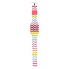 Rainbow Chevron LED Watch,