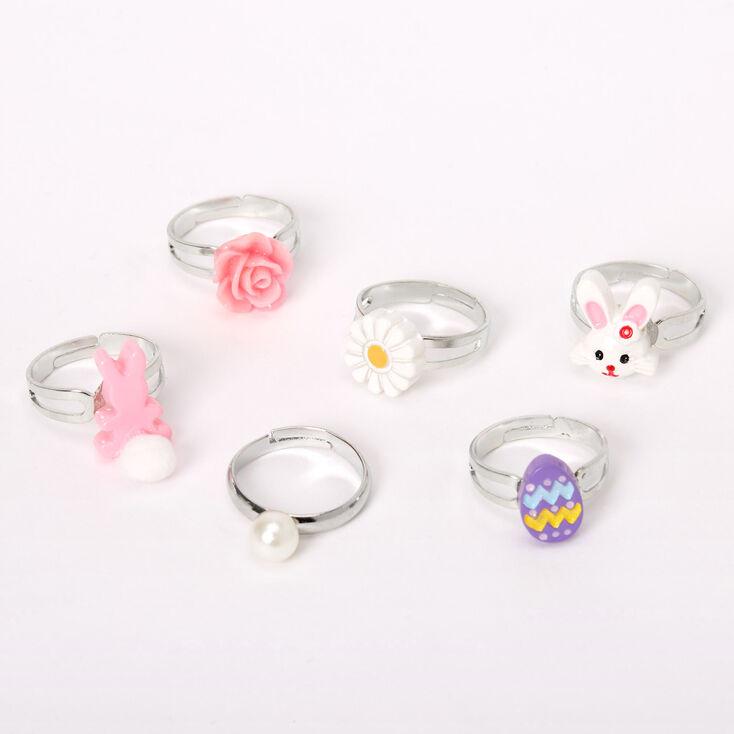 Easter Egg Box Rings - 6 Pack,