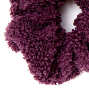 Medium Teddy Hair Scrunchie - Plum,