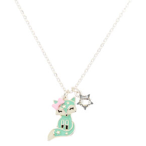 Trixie the Fox Pendant Necklace - Mint,