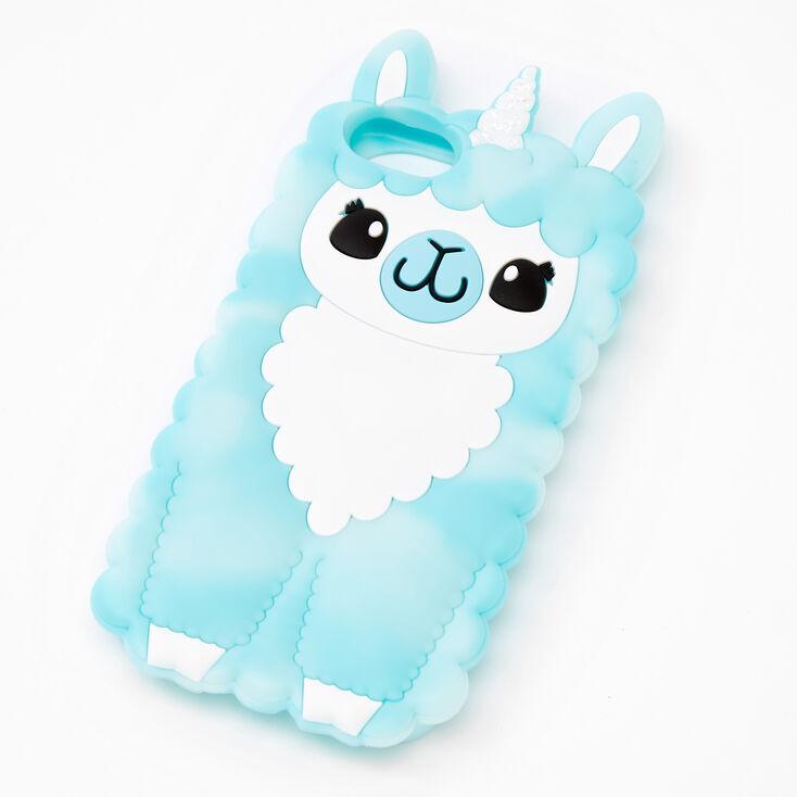 Blue Llamacorn Silicone Phone Case - Fits iPhone 6/7/8/SE,