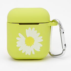 Neon Green Daisy Earbud Case Cover - Compatible with Apple AirPods®,