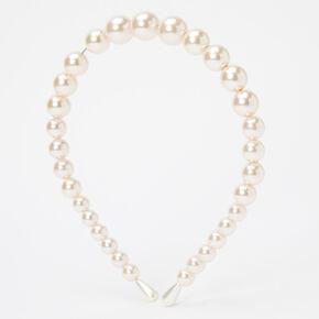 Chunky Pearl Headband - Blush Pink,
