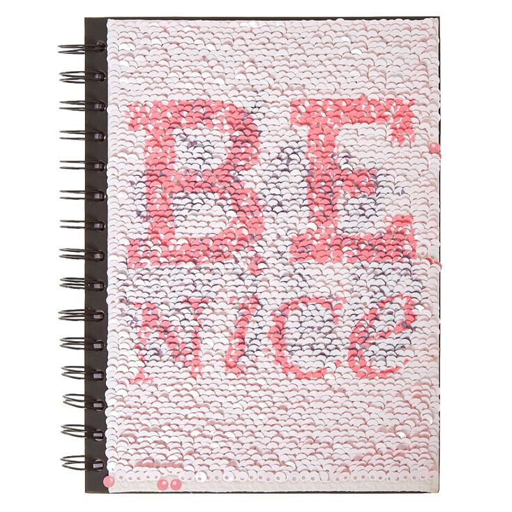 Journal sequins double face rose,