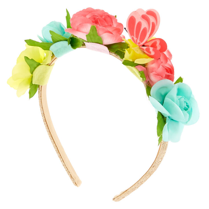 Kids Garden Party Floral Butterfly Headband,