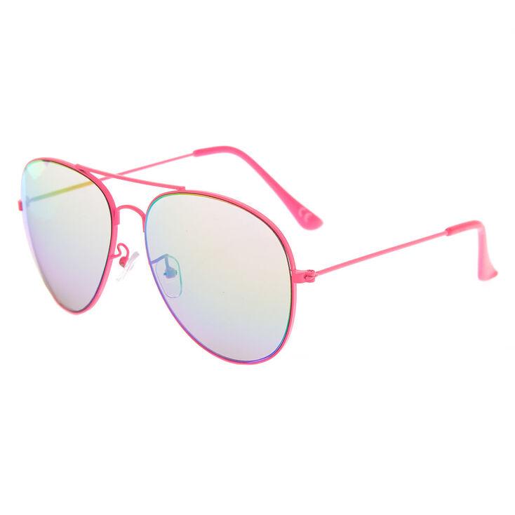 0cf853a851 Claire s Aviator Sunglasses - Neon Pink