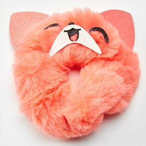 Medium Faux Fur Corgi Hair Scrunchie - Orange,