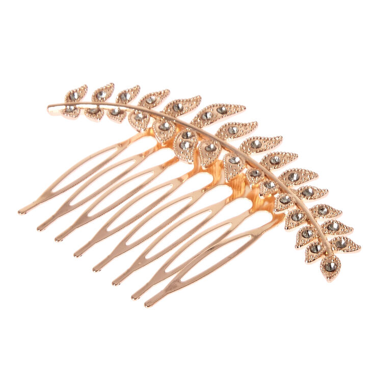 Rose Gold Olive Branch Hair Comb,