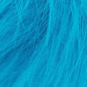 Élastique à cheveux pompon bleu aqua,