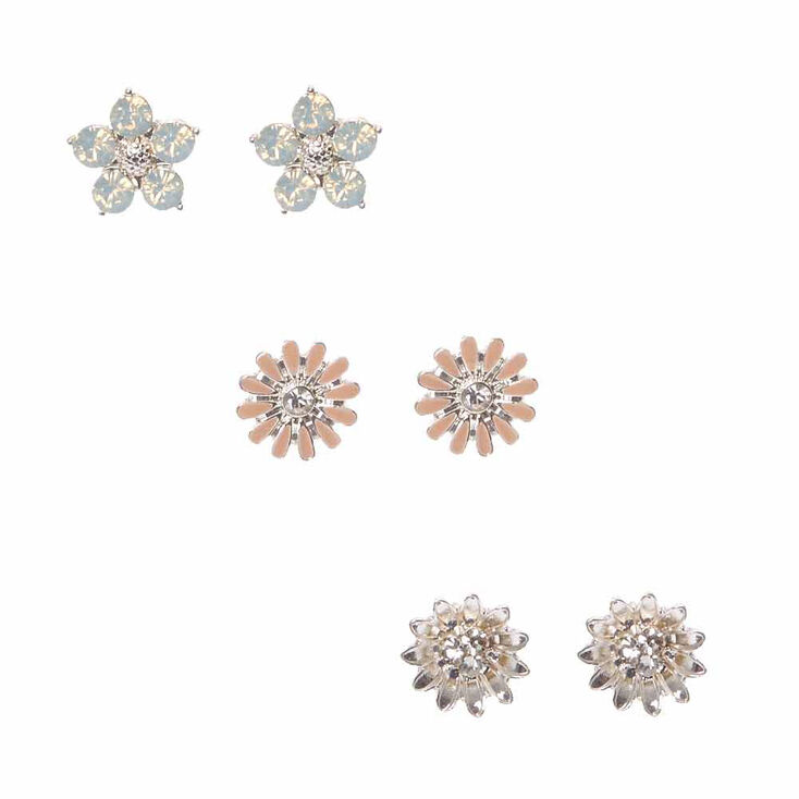 ct in t gold composite p w diamond tw earrings stud white v flower