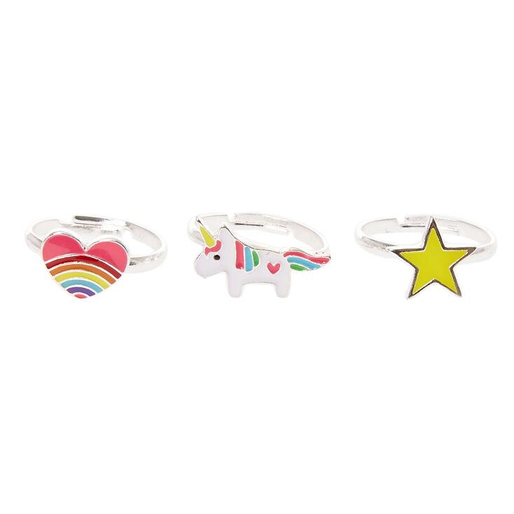Rainbow Unicorn Stacking Rings,