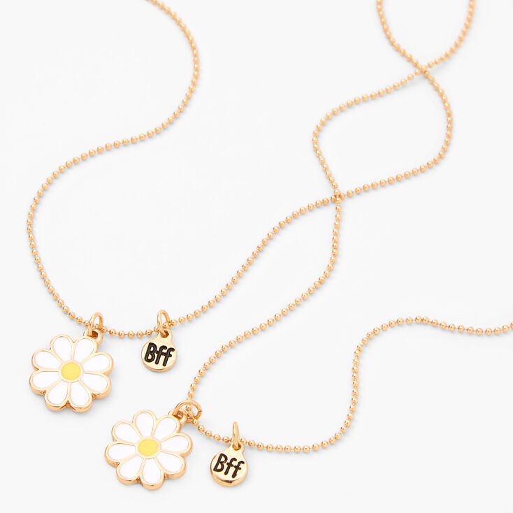 Best Friends Gold Daisy Necklaces - 2 Pack,