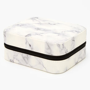 Black & White Marble Travel Jewelry Holder,