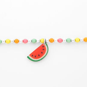 Claire's Club Watermelon Bead Choker Necklace,
