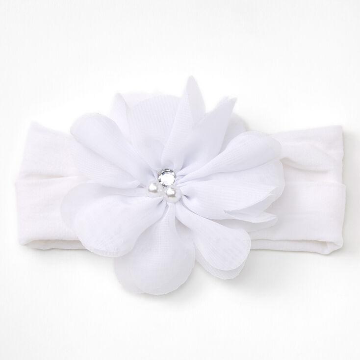 Bandeau à fleur en mousseline Claire'sClub - Blanc,