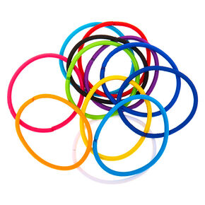 Rainbow Jumbo Hair Ties - 12 Pack,
