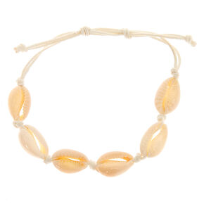 Cowrie Shell Adjustable Bracelet - White,