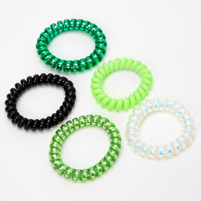 Bracelets torsadés Saint-Patrick - Vert, lot de 5,
