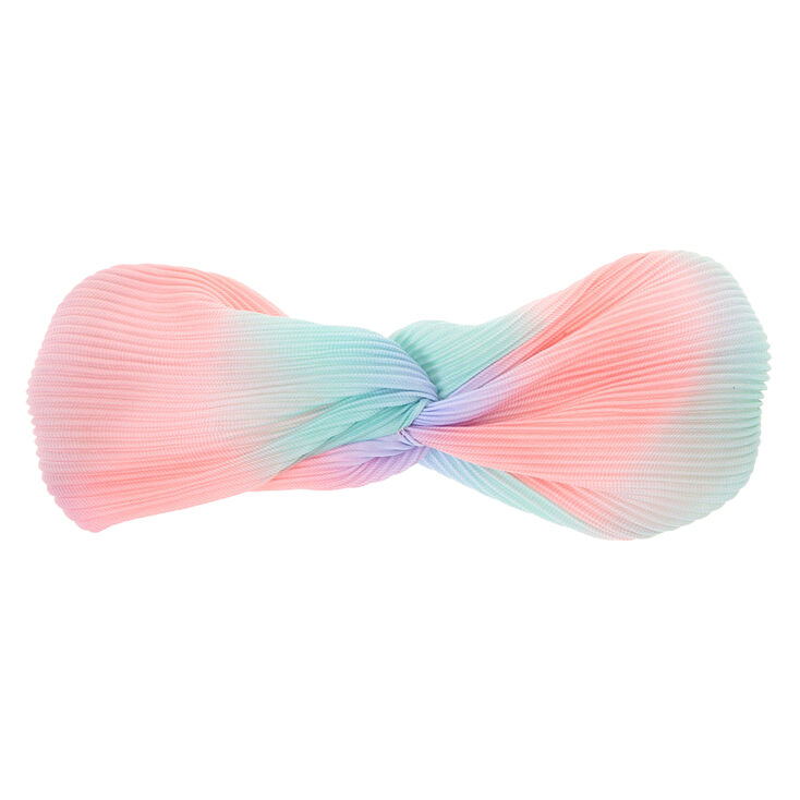 Pastel Ombre Twisted Pleated Headwrap,