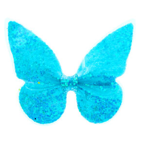 Neon Butterfly Hair Clip - Blue,