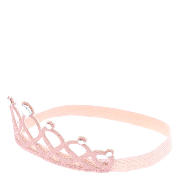 Claire's Club Glitter Crown Headwrap - Pink,