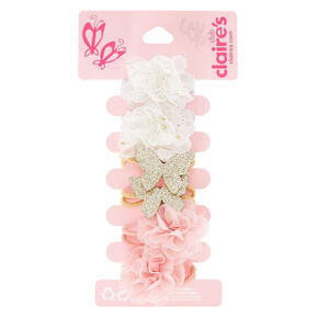 Claire's Club Chiffon Flowers Hair Ties - 6 Pack,