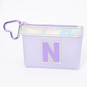 Purple Initial Coin Purse - N,