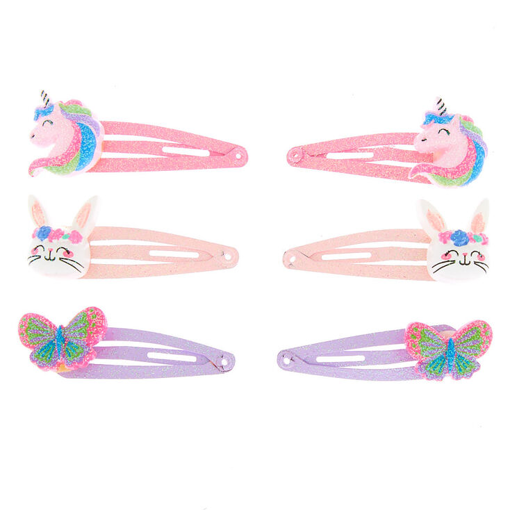 Claire's Club Spring Critter Snap Hair Clips - 6 Pack,