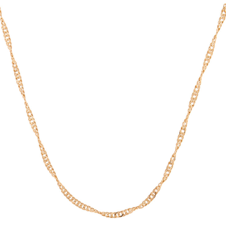 Gold Twisted Chain Necklace,