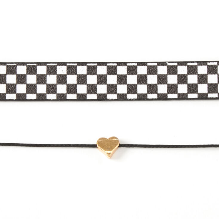 Sky Brown™ Checkered Choker Necklaces - 2 Pack,