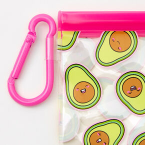 Avocado Face Mask Pouch - Pink,