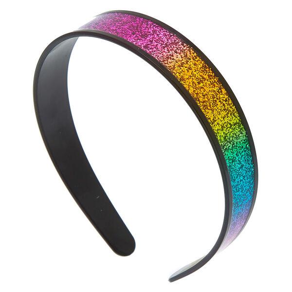 Claire's - wide glitter headband - 1