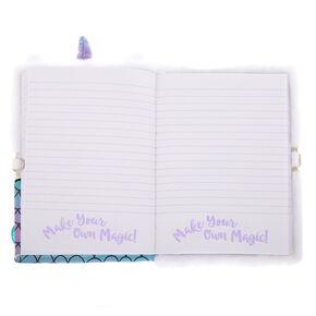 cc1aeb7df07 Magical Mia the MerCat Lock Plush Diary - White