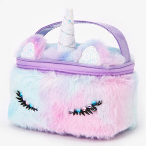 Furry Ombre Unicorn Makeup Bag,