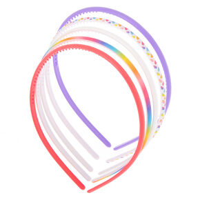 Claire's Club Rainbow Headbands - 5 Pack,