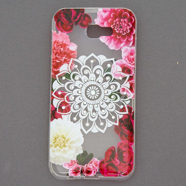 Floral Bling Mandala Phone Case - Fits Samsung Galaxy A7,