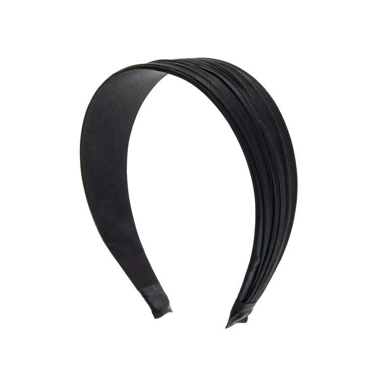 Wide Black Satin Headband  64d7f9218ef